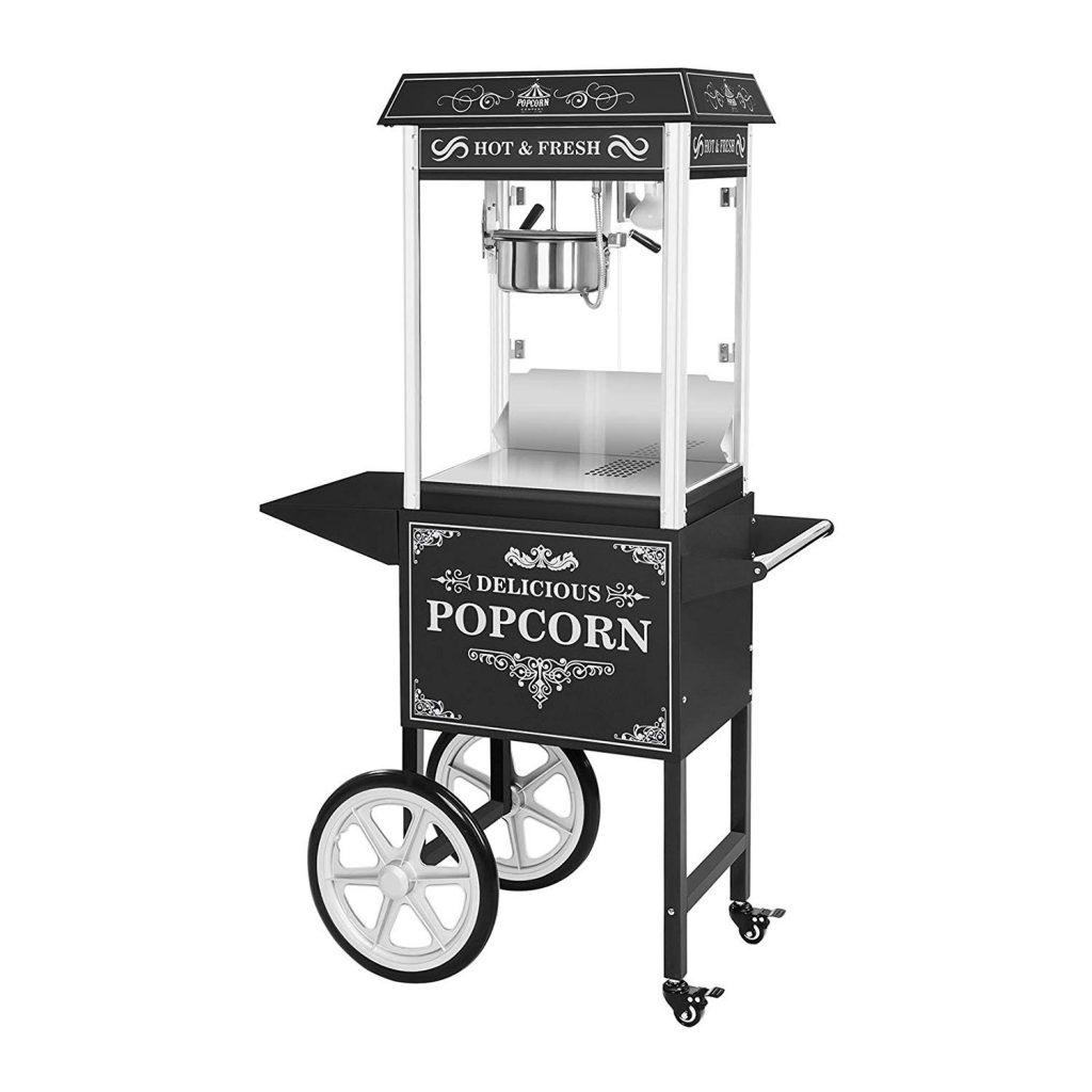 machine à pop-corn professionnelle Royal Catering avec chariot