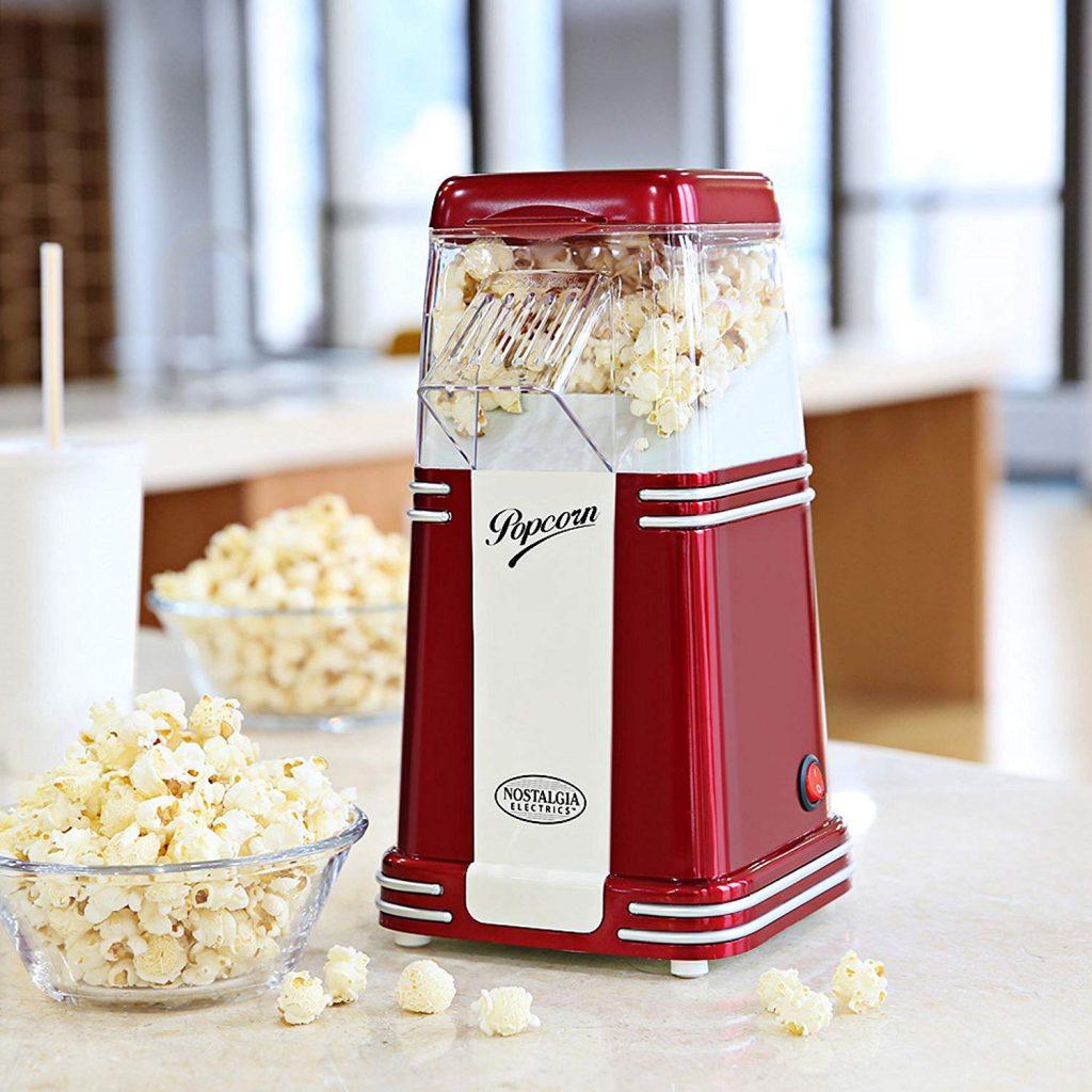 machine à pop-corn rétro couleur vin chaud NOSTALGIA